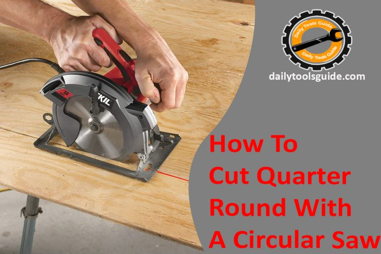 How to cut quarter round with a circular saw